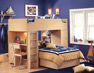 Double Loft Beds Are Useful If You Have An Awkward Shaped Bedroom Can